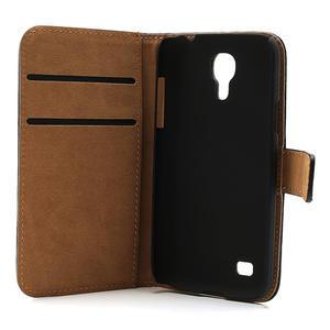 Peněženkové PU kožené pouzdro na Samsung Galaxy S4 mini i9190- černé - 7