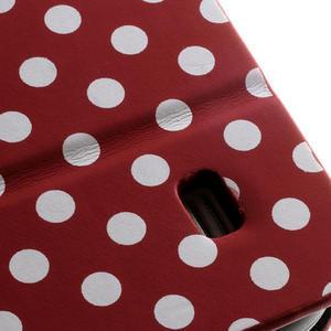 Peňaženkové puzdro na Samsung Galaxy S4 mini i9190- puntíkaté červené - 7