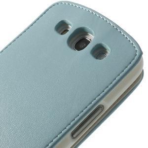Flipové pozdropre Samsung Galaxy S3I i9300 - světle-modré - 7