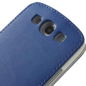 Flipové pozdropre Samsung Galaxy S3 i9300 - modré - 7