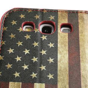 Peňaženkové puzdro pre Samsung Galaxy S3 i9300- USA vlajka - 7