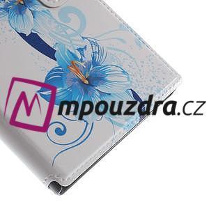 Flipové puzdro na Xiaomi Mi3- modrá lilie - 7