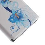 Flipové puzdro na Xiaomi Mi3- modrá lilie - 7/7