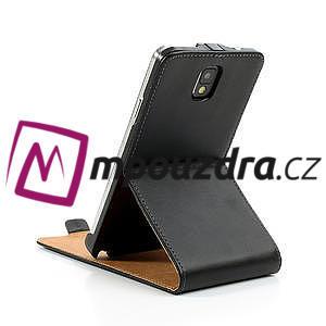 Flipové kožené puzdro pre Samsung Galaxy Note 3- čierné - 7