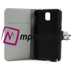Peňaženkové  puzdro pre Samsung Galaxy Note 3- zebrované - 7