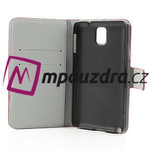 Peňaženkové puzdro pre Samsung Galaxy Note 3- farebné kvety - 7