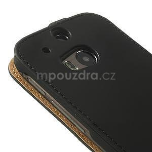 Flipové puzdro pre HTC one M8- čierné - 7