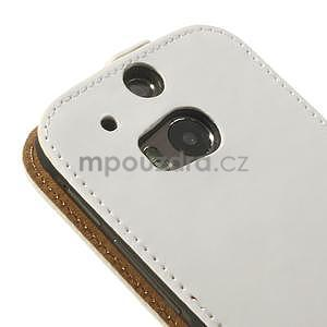 Flipové puzdro pre HTC one M8- biele - 7