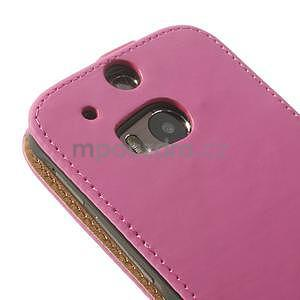 Flipové puzdro pre HTC one M8-růžové - 7