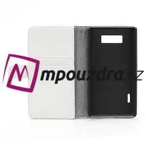 Peňaženkové puzdro na LG Optimus L7 P700 - biele - 7