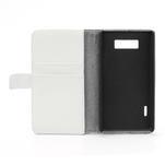 Peňaženkové puzdro na LG Optimus L7 P700 - biele - 7/7