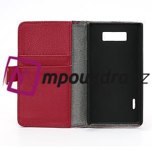 Peňaženkové puzdro na LG Optimus L7 P700 - červené - 7