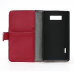 Peňaženkové puzdro pre LG Optimus L7 P700 - červené - 7/7