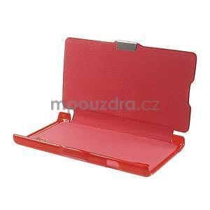 Flipové puzdro pre LG Optimus L9 P760- červené - 7
