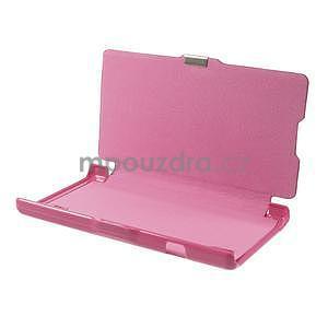 Flipové puzdro pre LG Optimus L9 P760- růžové - 7