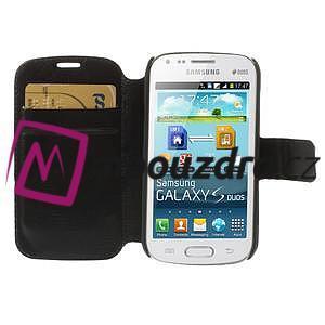 Peňaženkové puzdro na Samsung Trend plus, S duos - čierné - 7