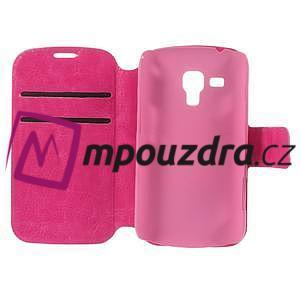 Peňaženkové puzdro na Samsung Trend plus, S duos - růžové - 7