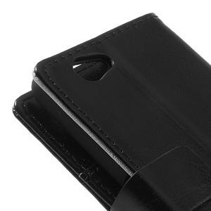 Peňaženkové puzdro na Sony Xperia Z1 Compact D5503- čierné - 7