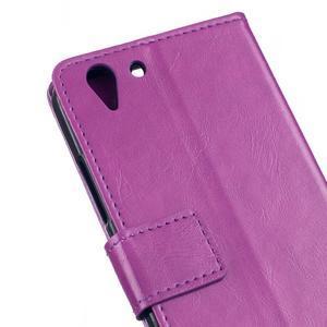 Knížkové PU kožené puzdro pre Lenovo Vibe K5 / K5 Plus - fialové - 7