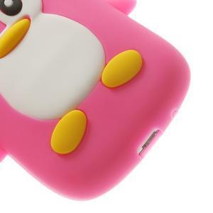 Silikonový tučniak puzdro pre Samsung Galaxy S3 mini i8190- ružový - 7