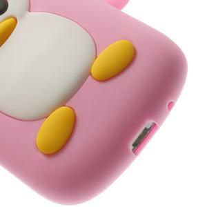 Silikonový tučniak puzdro pre Samsung Galaxy S3 mini i8190- svetloružový - 7