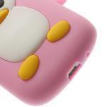 Silikonový tučniak puzdro pre Samsung Galaxy S3 mini i8190- svetloružový - 7/7