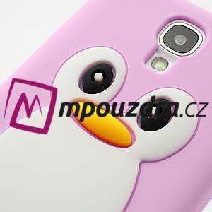 Silikonový Tučňák pouzdro pro Samsung Galaxy S4 i9500- světle-růžový - 7