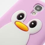 Silikonový Tučniak puzdro pro Samsung Galaxy S4 i9500- svetlo-ružový - 7/7