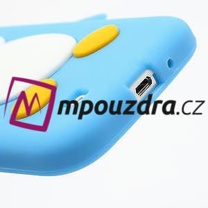Silikonový Tučniak puzdro pro Samsung Galaxy S4 i9500- svetlo-modrý - 7