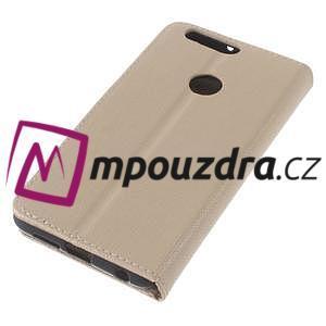 Clothy peněženkové puzdro na mobil Honor 8 - zlaté - 7