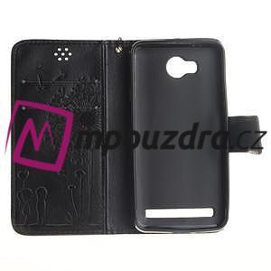 Dandelion PU kožené puzdro na mobil Huawei Y3 II - čierne - 7