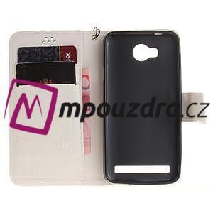 Dandelion PU kožené puzdro na mobil Huawei Y3 II - biele - 7