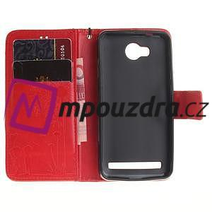 Dandelion PU kožené puzdro na mobil Huawei Y3 II - červené - 7