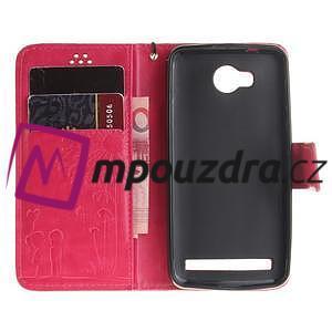 Dandelion PU kožené puzdro na mobil Huawei Y3 II - rose - 7