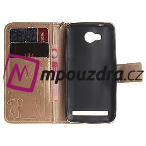 Dandelion PU kožené puzdro na mobil Huawei Y3 II - zlaté - 7