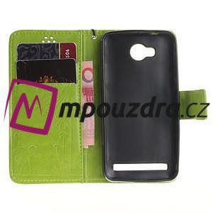 Dandelion PU kožené puzdro na mobil Huawei Y3 II - zelené - 7