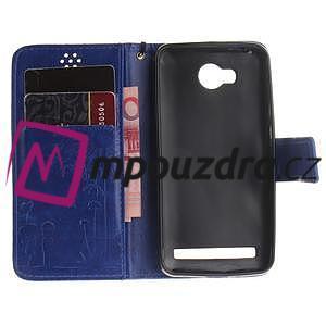 Dandelion PU kožené puzdro na mobil Huawei Y3 II - modré - 7