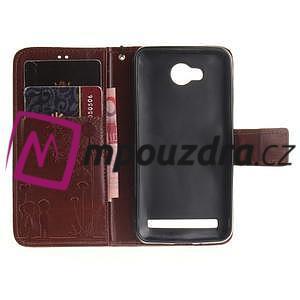 Dandelion PU kožené puzdro na mobil Huawei Y3 II - hnědé - 7