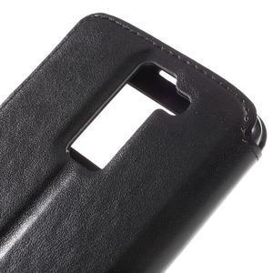 Richi PU kožené puzdro pre mobil LG K8 - čierne - 7