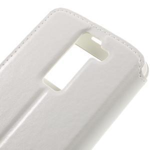 Richi PU kožené puzdro pre mobil LG K8 - biele - 7