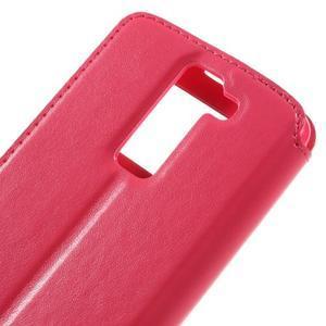 Richi PU kožené pouzdro na mobil LG K8 - rose - 7