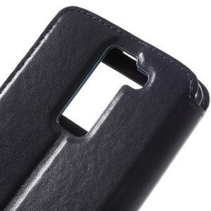 Richi PU kožené puzdro pre mobil LG K8 - tmavomodré - 7