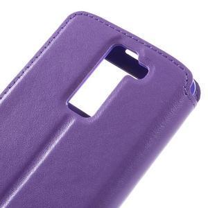 Richi PU kožené pouzdro na mobil LG K8 - fialové - 7