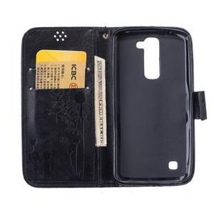 Dandelion PU kožené puzdro pre mobil LG K8 - čierne - 7