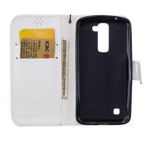 Dandelion PU kožené pouzdro na mobil LG K8 - bílé - 7