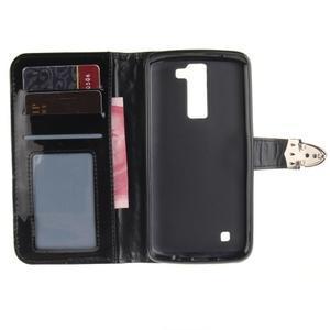 Luxusní PU kožené puzdro s přezkou na LG K8 - čierne - 7