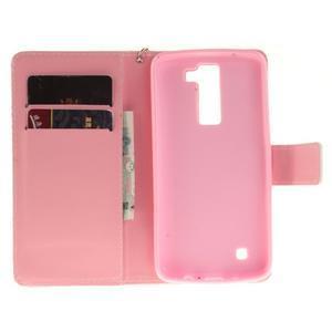 Style PU kožené puzdro pre LG K8 - farebná mandala - 7