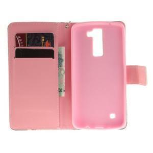 Style PU kožené puzdro pre LG K8 - mýtické púpavy - 7