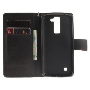 Style PU kožené puzdro pre LG K8 - panda - 7