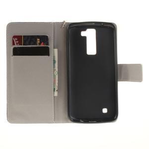Style PU kožené pouzdro na LG K8 - sovičky - 7